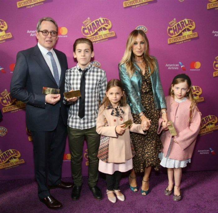 Сара Джессика Паркер и Мэттью Бродерик с детьми. / Фото: www.bez-makiyazha.ru