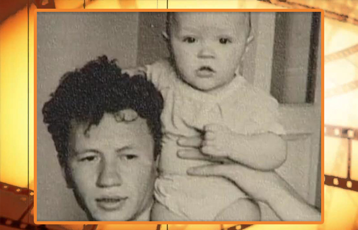 Леонид Быков с сыном.