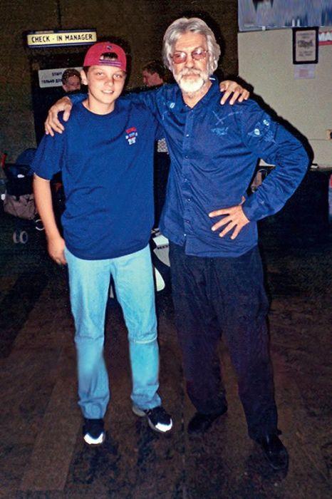 Борис Хмельницкий и сын Ларисы Галактионовой Павел. / Фото: www.7days.ru