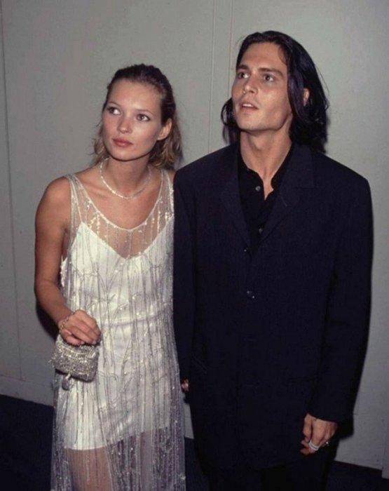 Джонни Депп и Кейт Мосс. / Фото: www.interesnoznat.com