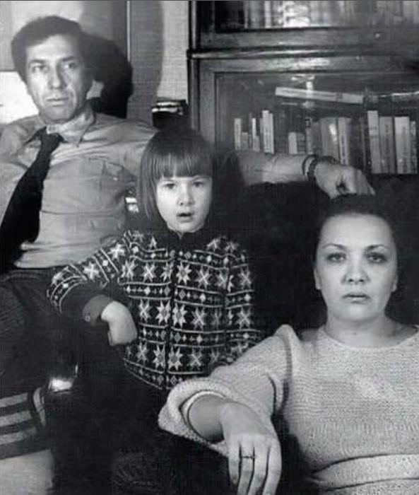 Дарья Юрская с родителями.