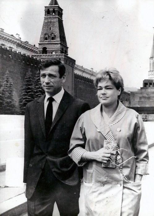 Ив Монтан и Симона Синьоре в Москве. / Фото: www.diletant.media