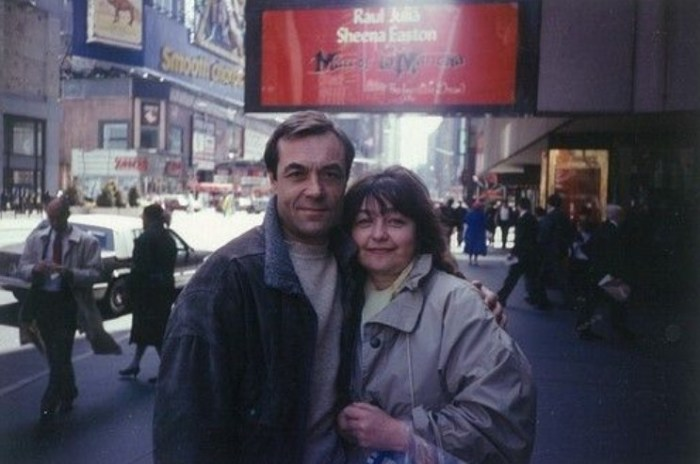 Александр Денисов и Ольга Клебанович в Нью-Йорке. / Фото: www.sb.by