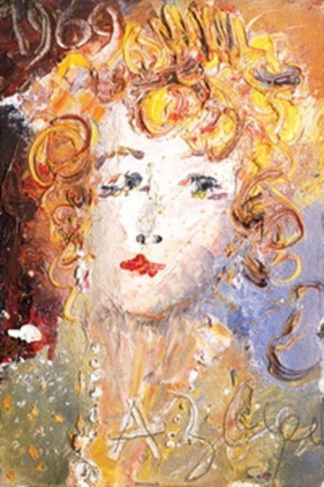 Анатолий Зверев, «Портрет О.М. Асеевой», 1969 год. / Фото: www.pinimg.com