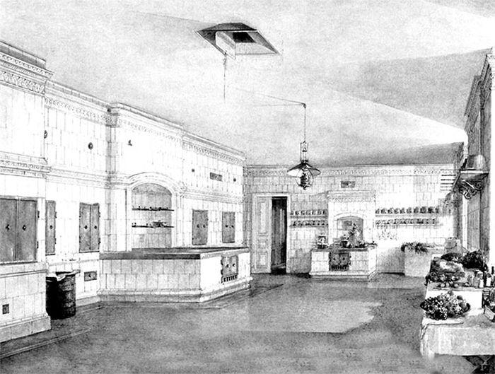 Кухня в Зимнем дворце в середине XIX века. / Фото: www.e-reading.club