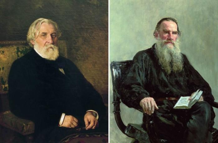 Иван Сергеевич Тургенев и Лев Николаевич Толстой. / Фото: www.mycdn.me