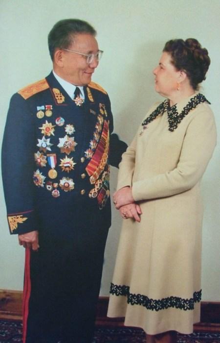 Анастасия Филатова и Юмжагийн Цэдэнбал. / Фото: www.mongolia.at.ua