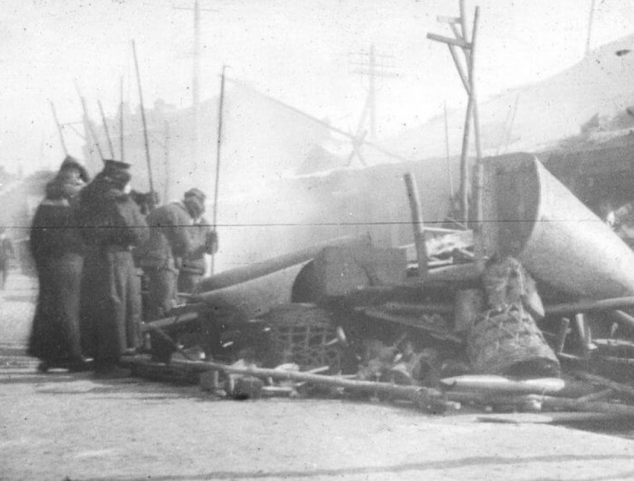 Сжигание вещей из зараженных домов во время эпидемии чумы в Манчьжурии. / Фото: www.istorik.net