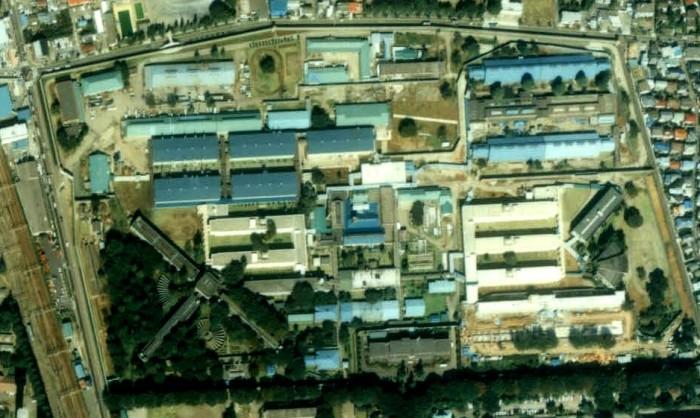 Тюрьма Фучу с высоты птичьего полёта. / Фото: www.wikiwand.com
