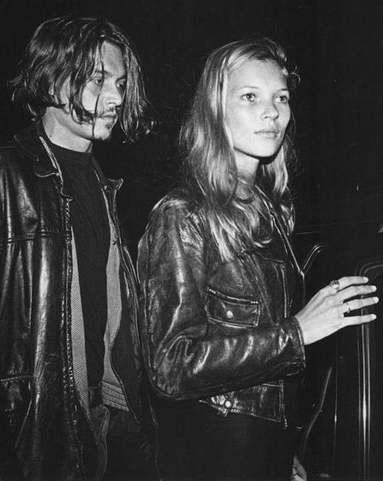 Джонни Депп и Кейт Мосс. / Фото: www.pinimg.com