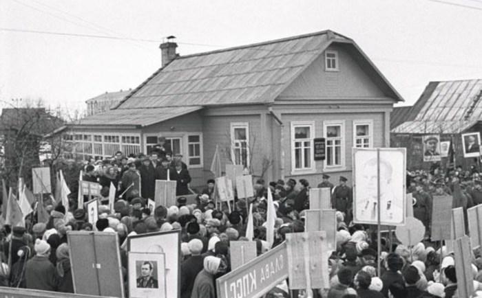 Открытие мемориального музея первого космонавта в городе Гагарин. / Фото: www.itogi.ru, Владимир Мусаэльян (ИТАР-ТАСС)