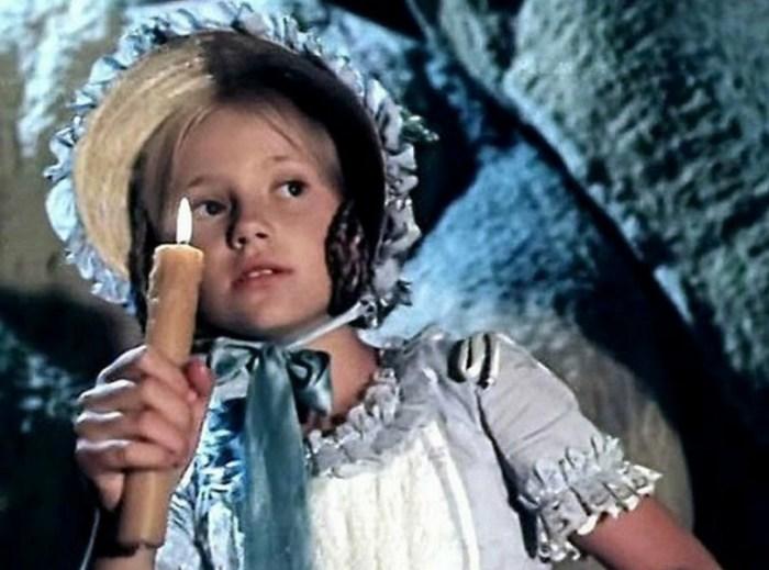 Мария Миронова, кадр из фильма «Приключения Тома Сойера и Гекльберри Финна». / Фото: www.yandex.net