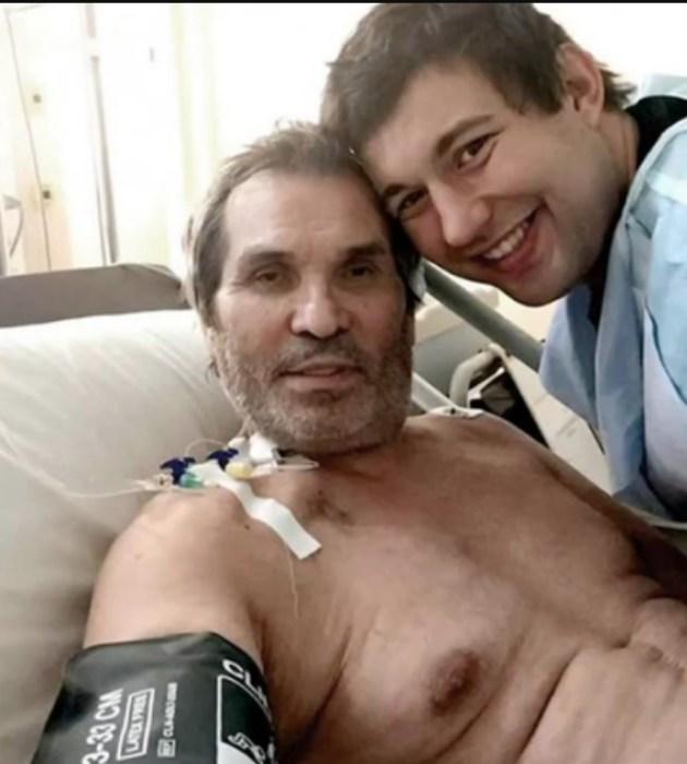 Бари Алибасов с сыном в больнице. / Фото: www.obozrevatel.com
