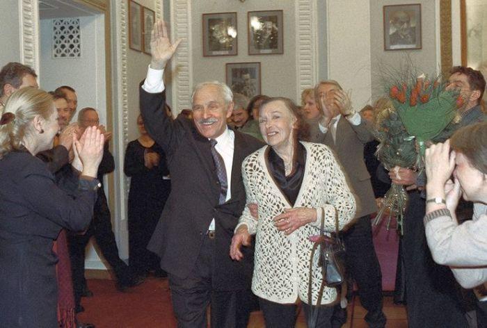 Михаил Ульянов и Алла Парфаньяк. / Фото: www.newsland.com