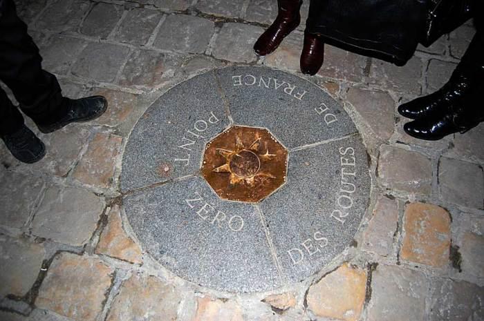 Точка Ноль, Париж, Франция. / Фото: www.geocaching.su
