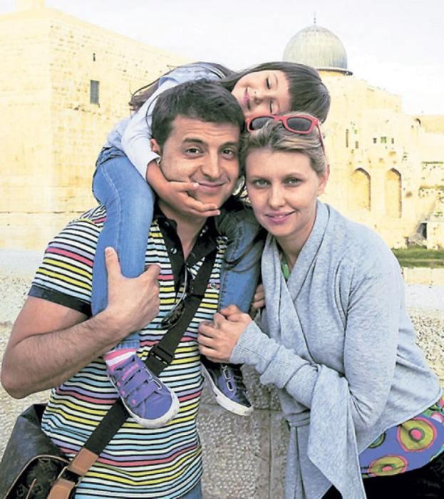 Владимир и Елена Зеленские с дочерью. / Фото: www.livejournal.com