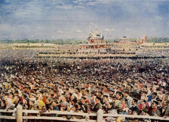 Толпа на Ходынском поле. / Фото: www.history.com.ru