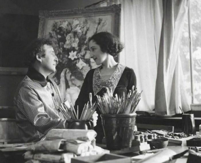 Марк Шагал и Белла Розенфельд. / Фото: www.yandex.net