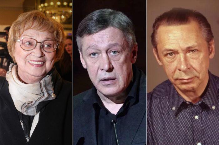 Алла Покровская, Михаил и Олег Ефремовы.