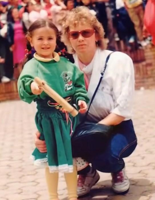 Любовь Полехина с дочерью. / Фото: www.russia.tv