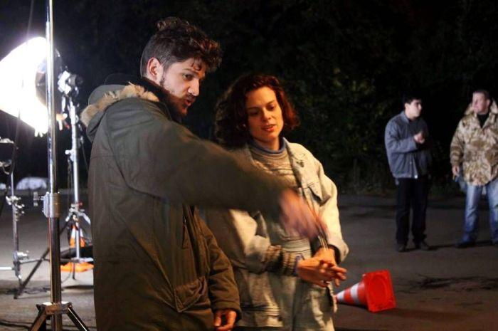 Кантемир Балагов и Дарья Жовнер на съемках фильма «Теснота». / Фото: www.gorets-media.ru