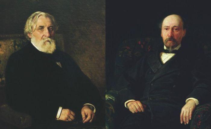 Иван Тургенев и Николай Некрасов. / Фото: www.mtdata.ru