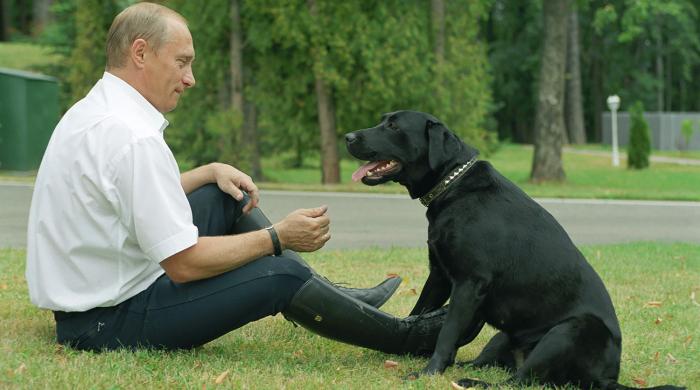 Владимир Путин и Конни Полгрейв. / Фото: www.gazeta.ru