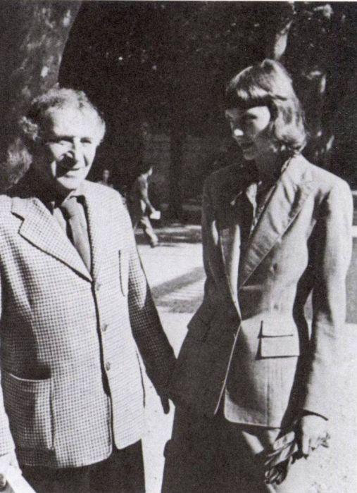 Марк Шагал и Вирджиния Хаггард в Венеции. 1948 год. / Фото: www.liveinternet.ru