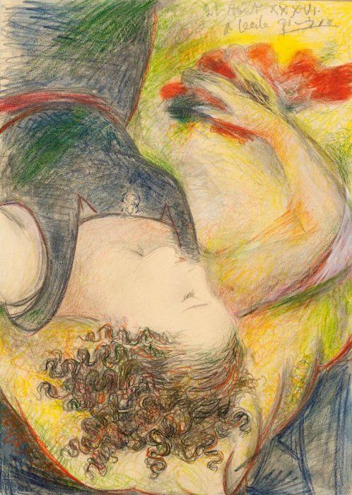 Пабло Пикассо, портрет Сесиль Элюар. / Фото: www.pinimg.com