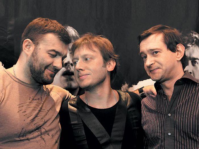 Михаил Пореченков, Михаил Трухин и Константин Хабенский. / Фото: www.tele.ru