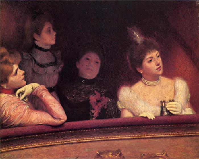 Федерико Дзандоменеги. «В театре» / Фото: www.artchive.ru