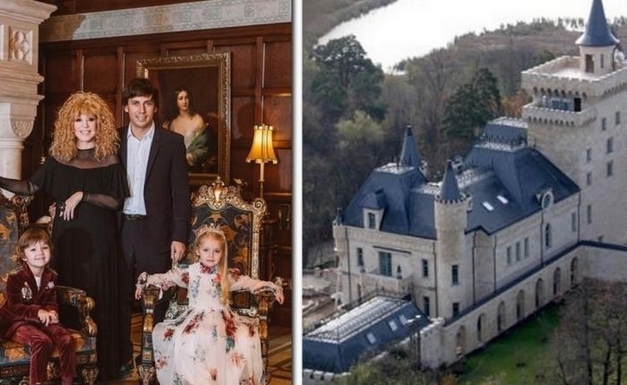 Максим Галкин и Алла Пугачёва с детьми и их семейный замок. / Фото: www.roof-tops.ru