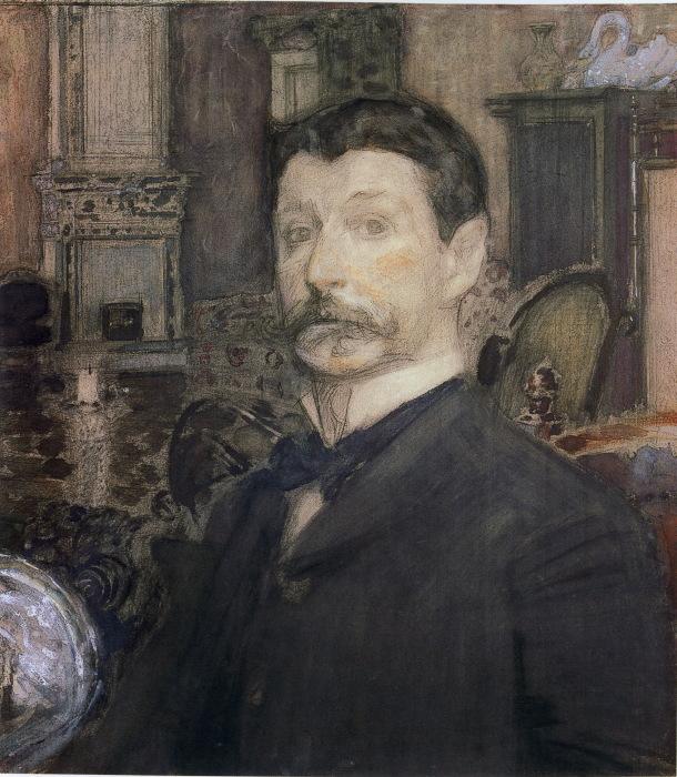 Михаил Врубель. Автопортрет, 1905 год. / Фото: www.wikimedia.org