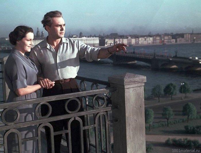 Элина Быстрицкая и Сергей Бондарчук, кадр из фильма «Неоконченная повесть». / Фото: www.fotocdn.net