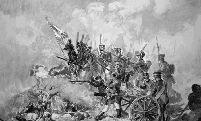 Генерал А. А. Тучков на флешах, контратака. 1812. / Фото: www.mtdata.ru