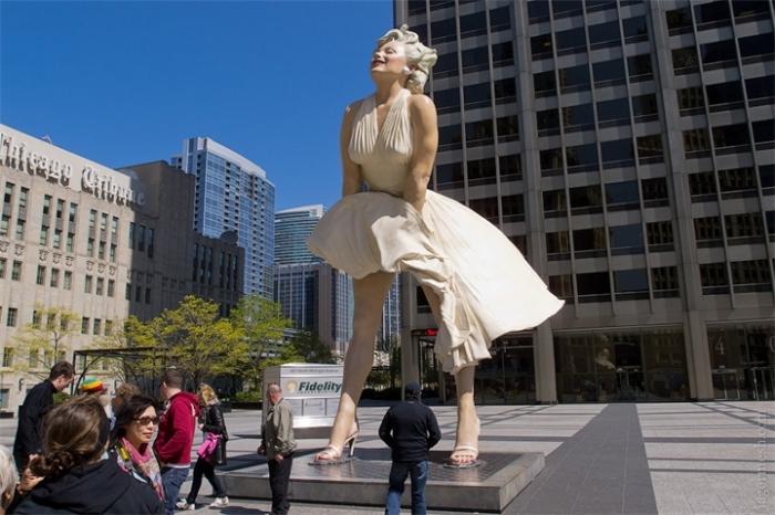 Памятник Мэрилин Монро. / Фото: www.anyfad.com