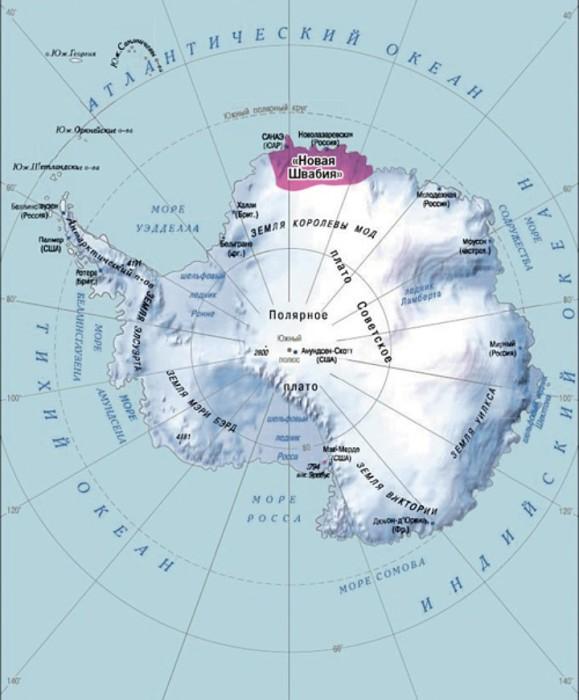 Предполагаемая территория Новой Швабии на карте. / Фото: www.googleusercontent.com