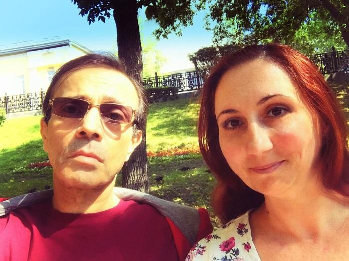Андрей Харитонов с женой Ольгой. / Фото: www.kpcdn.net