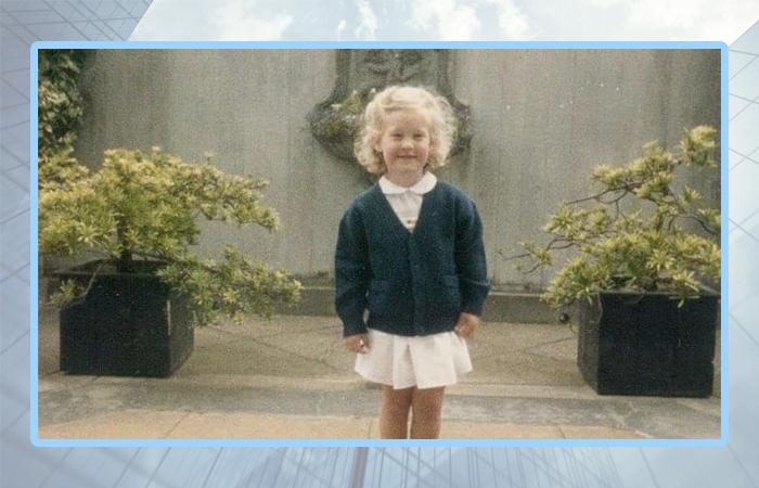 Элизабет Холмс в детстве.