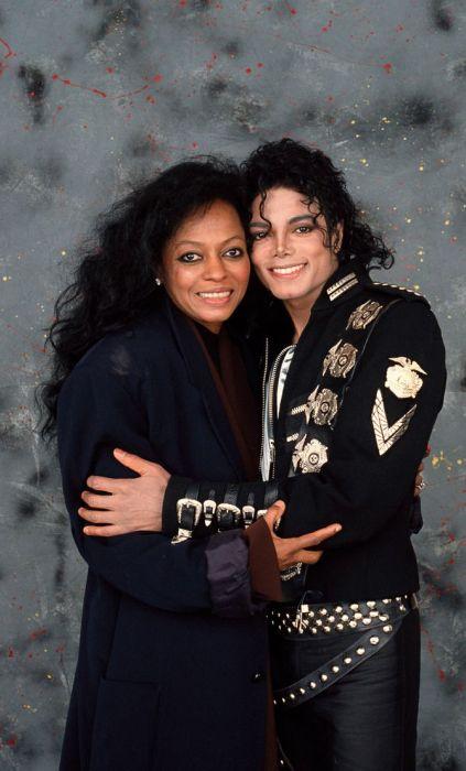 Майкл Джексон и Дайана Росс. / Фото: www.pinimg.com