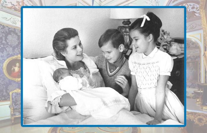 Грейс Келли с детьми.