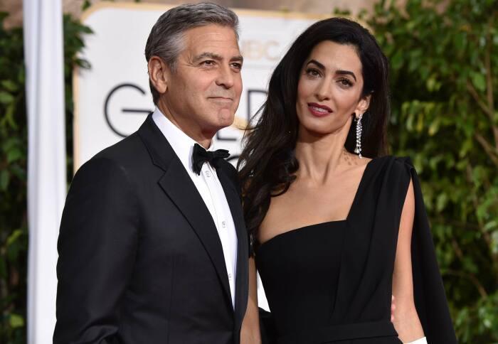Джордж Клуни и Амаль Аламуддин. / Фото: www.almode.ru