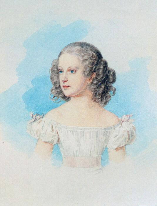 Мария Николаевна в детстве, работа Петра Соколова. / Фото: www.twimg.com