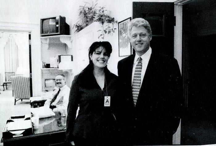 Моника Левински и Билл Клинтон. / Фото: www.karavan.ua