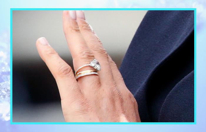 Помолвочное кольцо Меган Маркл после переделки.