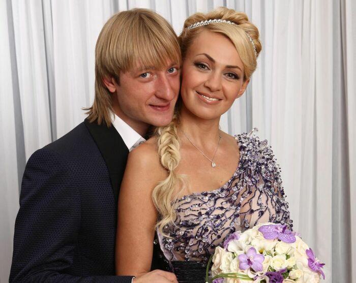 Яна Рудковская и Евгений Плющенко. / Фото: www.kleo.ru
