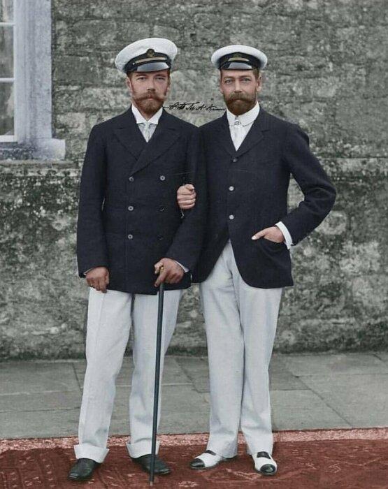 Николай II и Георг V. / Фото: www.twimg.com