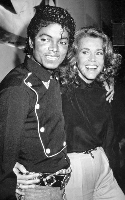 Майкл Джексон и Джейн Фонда. / Фото: www.libmir.com