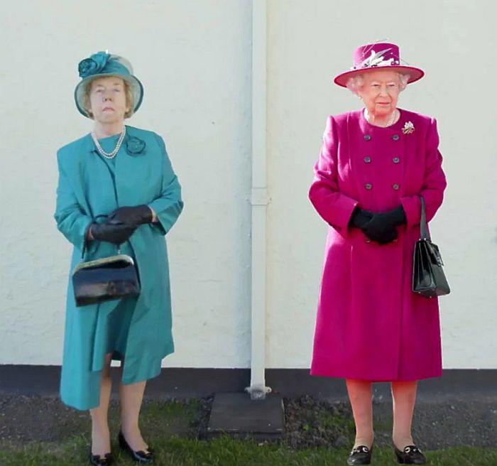 Элла Слэк и Елизавета II. / Фото: www.yandex.net