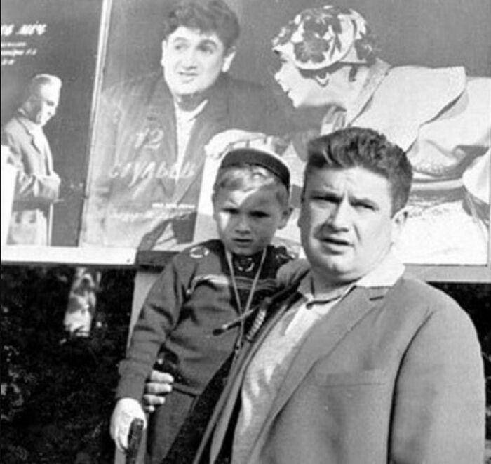 Евгений Весник с сыном Евгением. / Фото: www.kino-teatr.ru